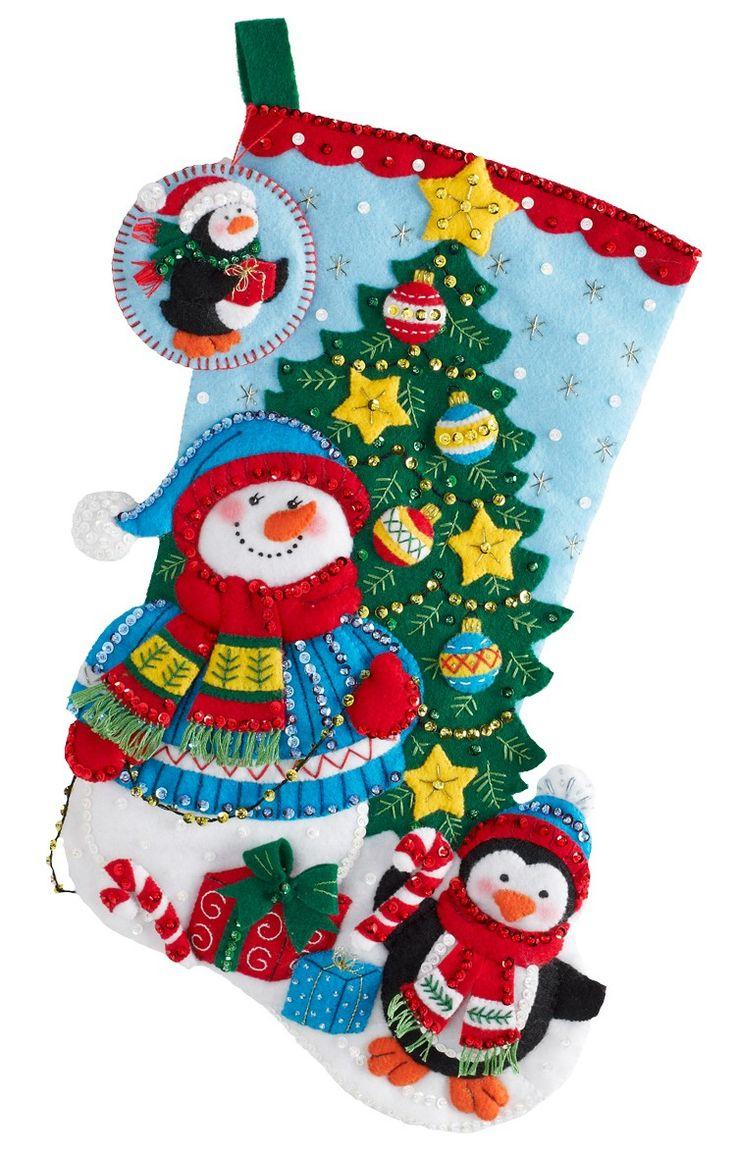Images about bucilla felt christmas stockings on