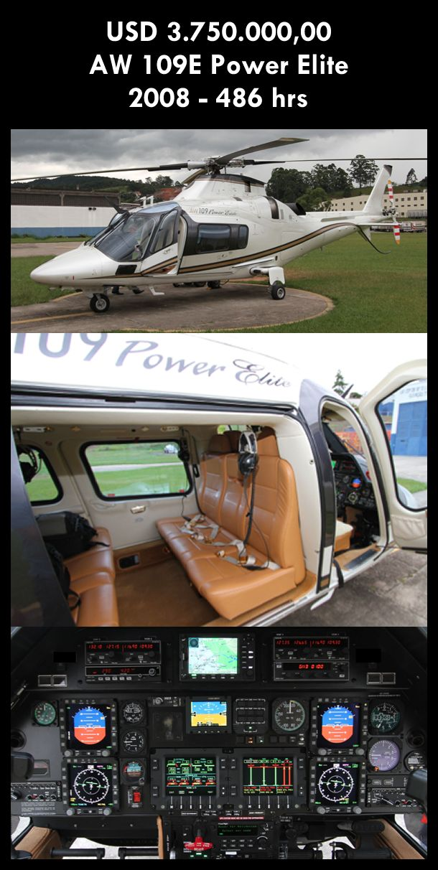 Aeronave à venda: Agusta Westland AW 109E Power Elite, 2008, 486 hrs, USD 3.750.000,00. #agusta #agustaelite #agustapowerelite #agustawestland #aw109epower #agustapower #airsoftanv #a109epower #aircraftforsale #aeronaveavenda #pilot #piloto #helicoptero #aviation #aviacao #heli #helicopterforsale  www.airsoftaeronaves.com.br/H227