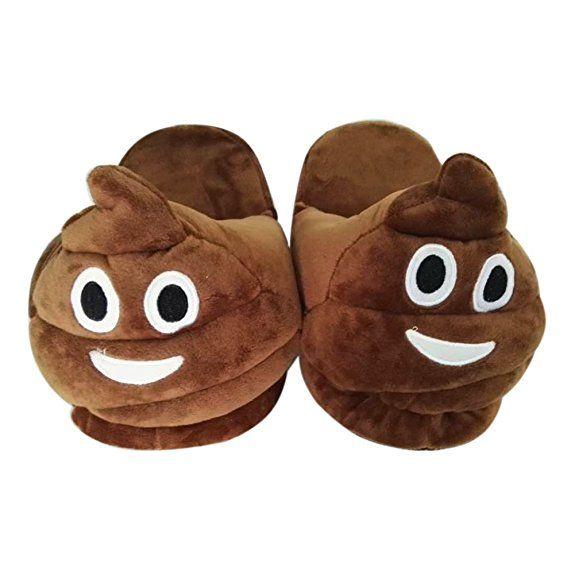 12bbec6bbcde Funny Emoji House Slippers - The Poop Emoji !