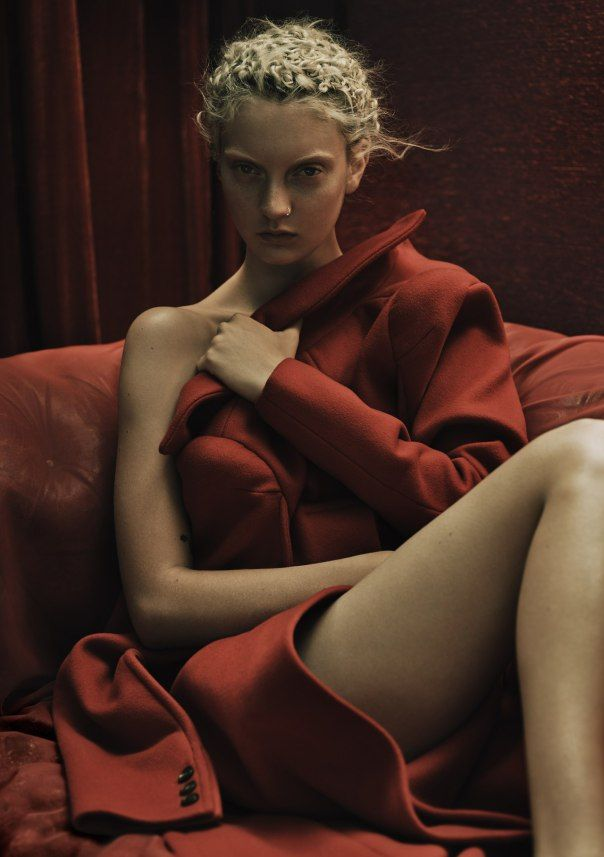 Rory Payne Brilliantly Delivers Codie Young As The Lady In Red For Exit Magazine , Fall/Winter 2014-2015