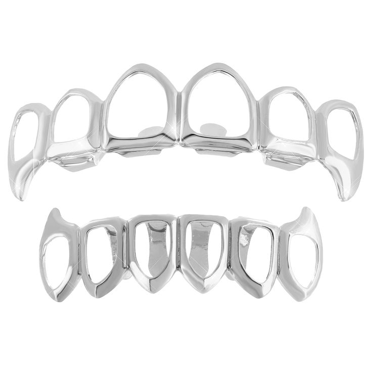 This is a brand new stylish cut grills for teeth made of brass with 14k white gold finish over it.One size for all (Most will fit 98% of the people. Easy to fit.). Stock Number :V01-(7234)L020-6OFFRH-