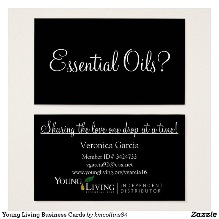 Best 25+ Young living business cards ideas on Pinterest   Young ...