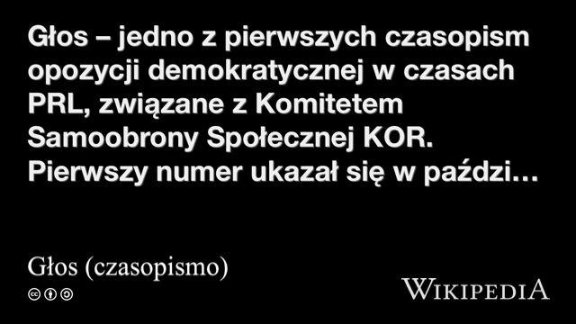 """""""Głos (czasopismo)"""" på @Wikipedia:"""