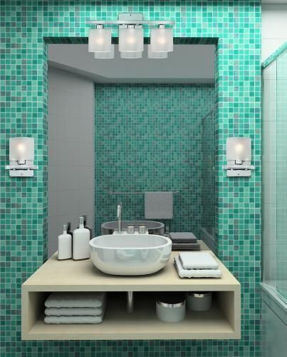 This #bathroom definitely pops! Is it right for you? #TileDesign