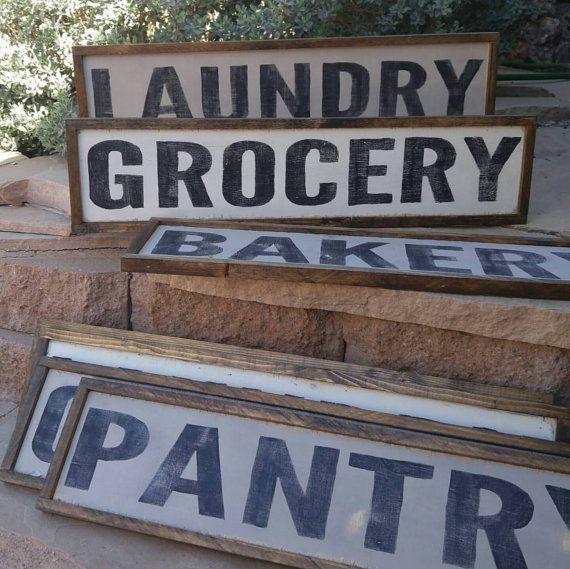 Custom Wood Sign Bakery Market Laundry Pantry Grocery Made to by TheGreenElephantShop | Etsy