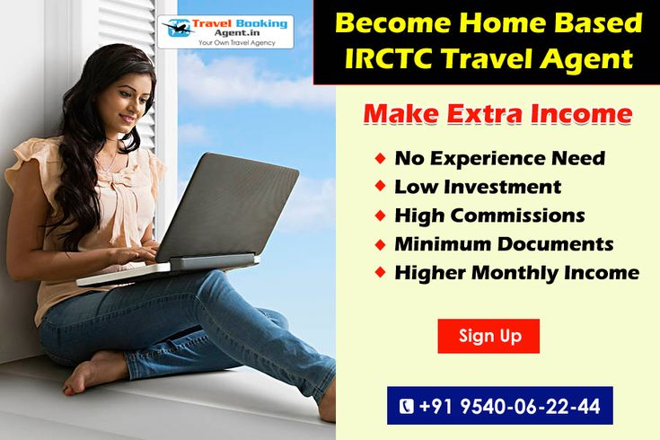 Become IRCTC Authorized Travel Agent. Book Rail ticket, Air ticket, Bus Ticket. Holiday packages, Mobile & DTH recharge & More, Higher Monthly Income, Minimum Documents, High Commissions, Low Investment. @ +91 9540-06-22-44 # https://goo.gl/T7SOXj  #travelbookingagent #becometravelagent #starttravelagency #travelagencybusiness