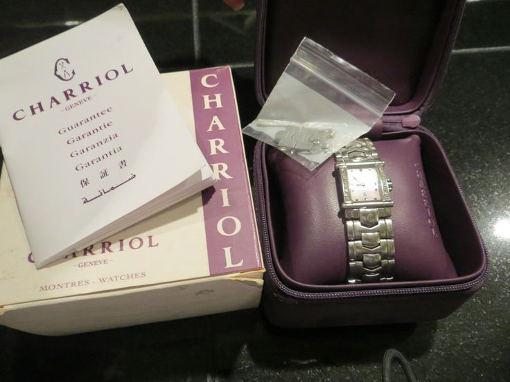 CHARRIOL Womens Diamond Bezel Staniless Steel Watch EUC Genve 6399 Mother Pearl - Lets make a deal