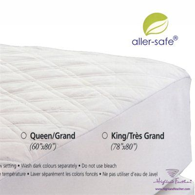 Highland Feather Q1-10-MP Platinum Waterproof 17-in Deep Drop Mattress Pad Protector