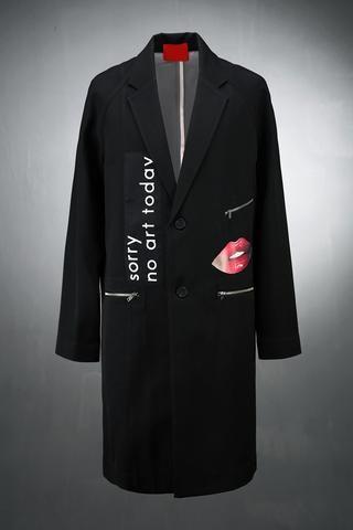 Lip Patch Long Blazer