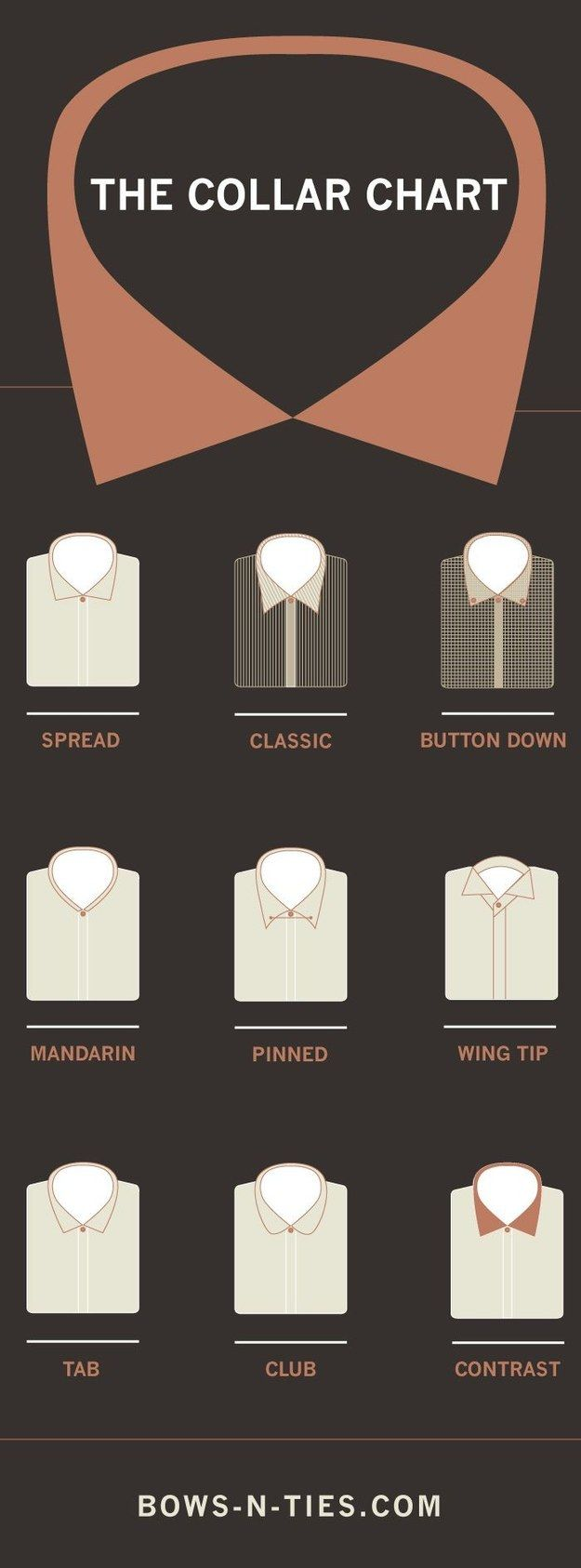 Know your collar. | 25 Life-Changing Style Charts Every Guy Needs Right Now #Style #Infographic