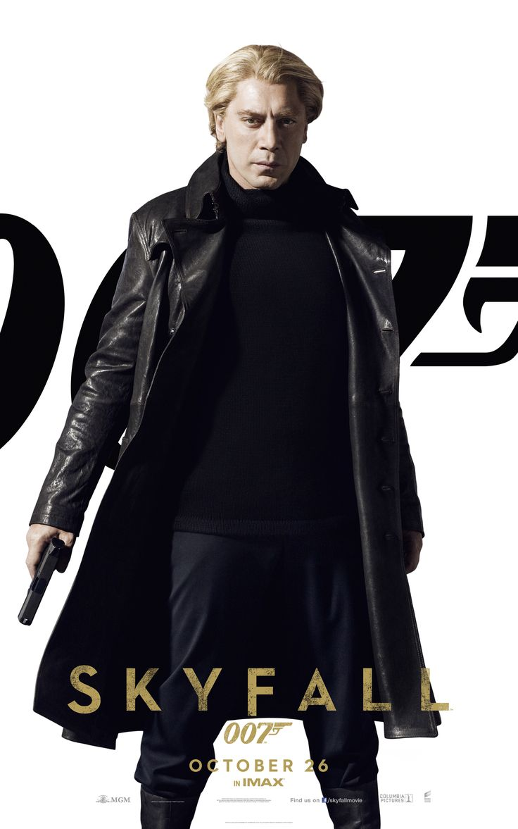 SkyFall: Javier Bardem as Raoul Silva (born Tiago Rodriguez), the film's main antagonist | UK Cinema Release