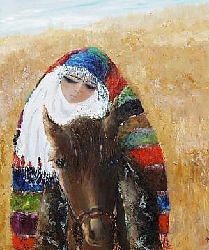 FİKRET OTYAM - Atlı Kız, 120 x 100