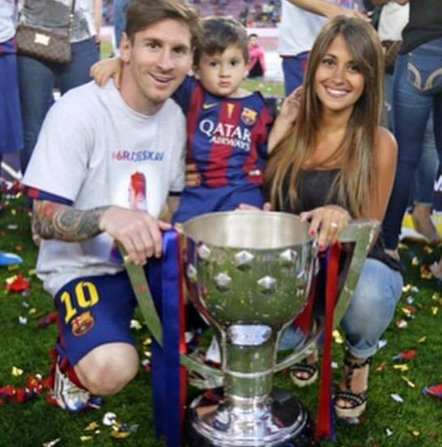Messi, his son & his wife
