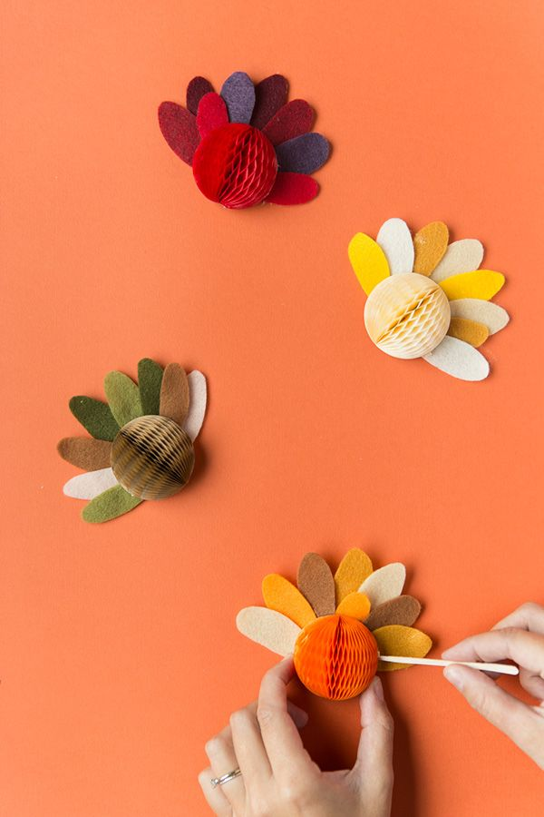 Thanksgiving crafts Turkey Placemats