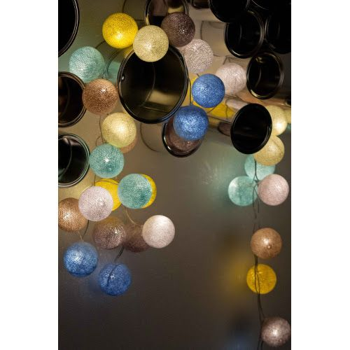 Cotton Ball Lights - Sunny Turquoise 50 kul - sprawdź na myhome.pl