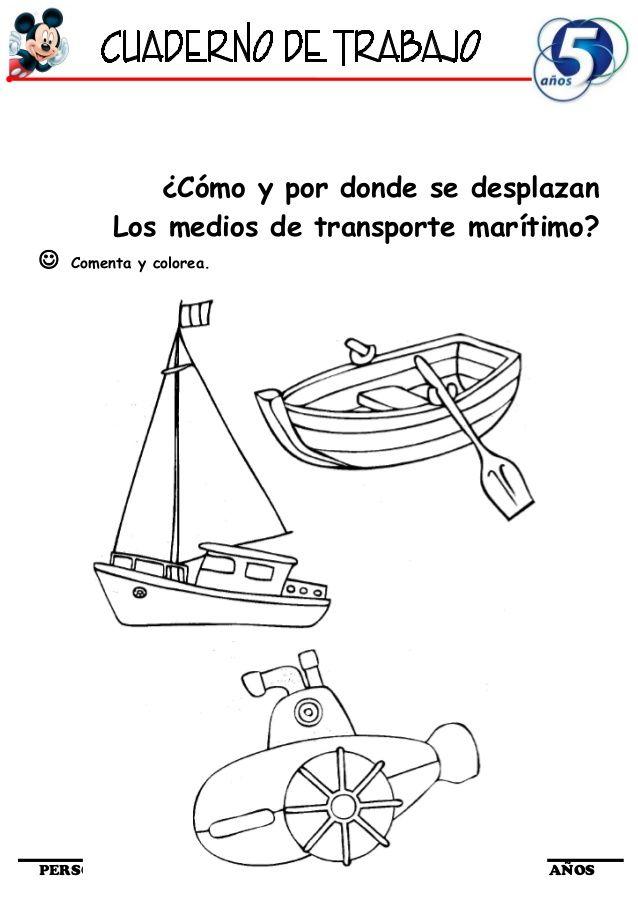 Cómo y por donde se desplazanLos medios de transporte marítimo ...