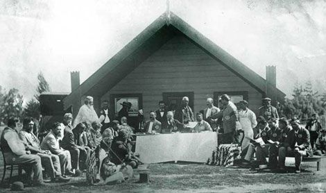 1890s - 1900s    Kotahitanga - Maori Parliament    Delegations from many tribal areas meet at Papawai Marae near Greytown to discuss important issues at the Kotahitanga. After talks with Premier Richard Seddon and King Mahuta in 1897, the Maori Parliament supports a petition to Queen Victoria that all remaining Maori land should be protected.
