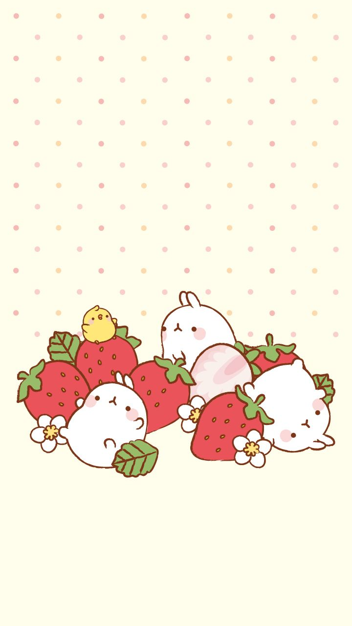 Strawberry Molang Summersaults Sanrio/Japan Walls