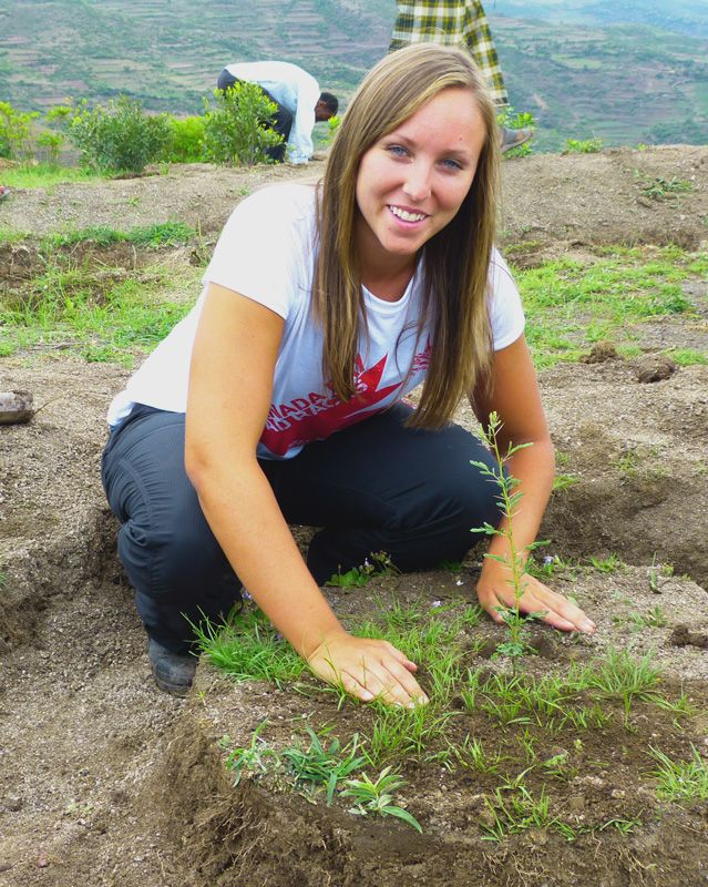 "Rachel #Tree Planting in Ethiopia: ""I can see now that money can't buy change but it can fund the most important part—the journey. Teaching and guiding while groups learn from their mistakes or successes is vital."" - giftsthatmatter.ca"