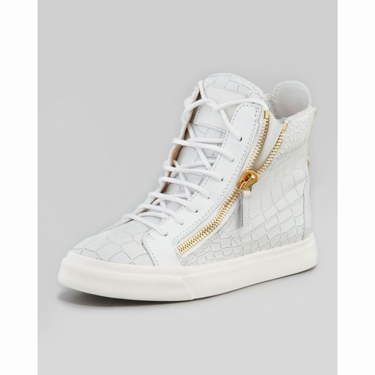 python embossed Runner sneakers - White Giuseppe Zanotti SvWmDHGWY