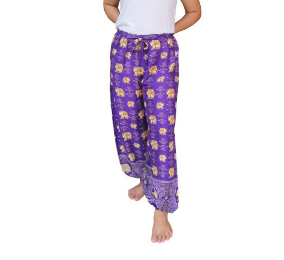 Women's Purple  Pants Harem Pants  Hippie pants Boho by rockbox99