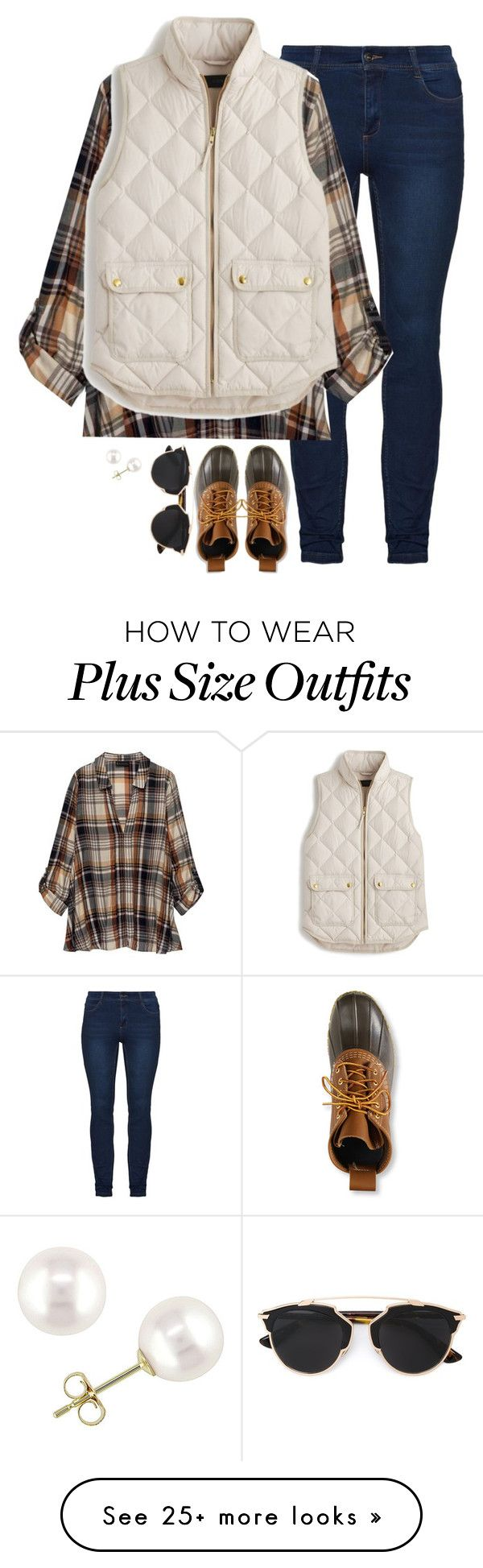"""Untitled #1488"" by southernstruttin on Polyvore featuring Bobeau, J.Crew, L.L.Bean, Christian Dior and Miadora"