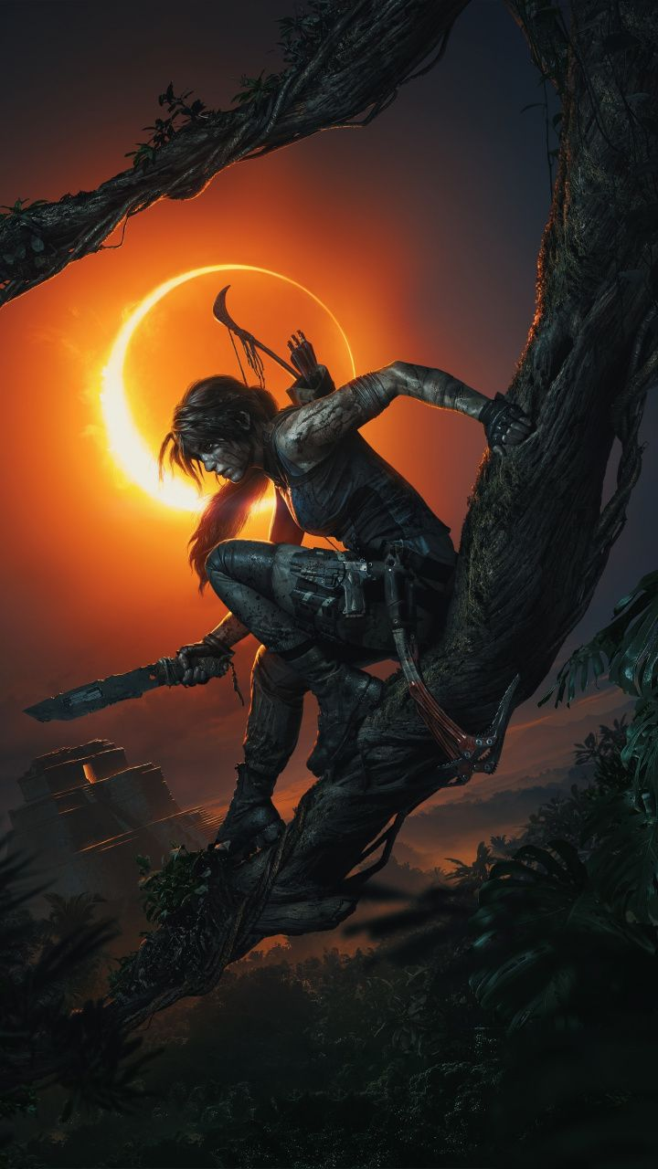 0ce8a669cf1 Download 720x1280 wallpaper Shadow of the Tomb Raider, video game, dark,  night, Lara Croft, Samsung Galaxy mini S3, S5, Neo, Alpha, Sony Xperia  Compact Z1, ...