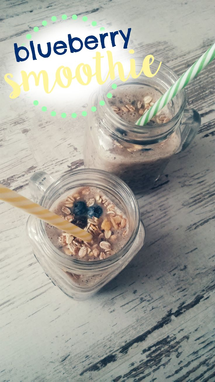 Healthy and yummy blueberry & banana smoothie!  #smoothie #recipe #blueberry #banana #healthy