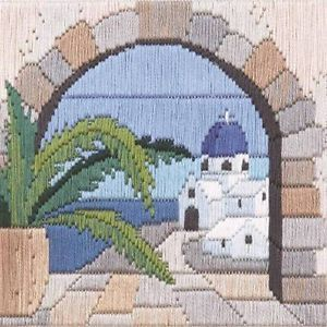 Derwentwater-Designs-Aegean-Arch-Long-Stitch-Kit-22ct-Outline-Printed-Canvas