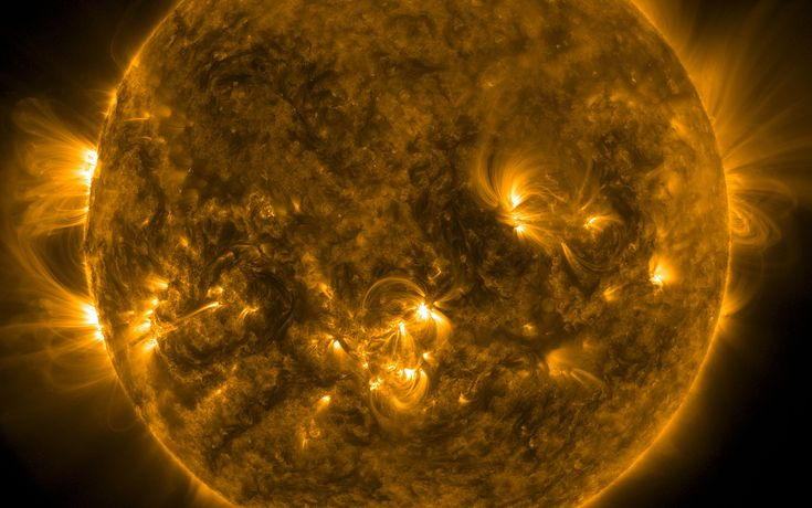The sun, imaged by the Atmospheric Imaging Assembly instrument aboard NASA's Solar Dynamics Observatory, on November 12, 2015.