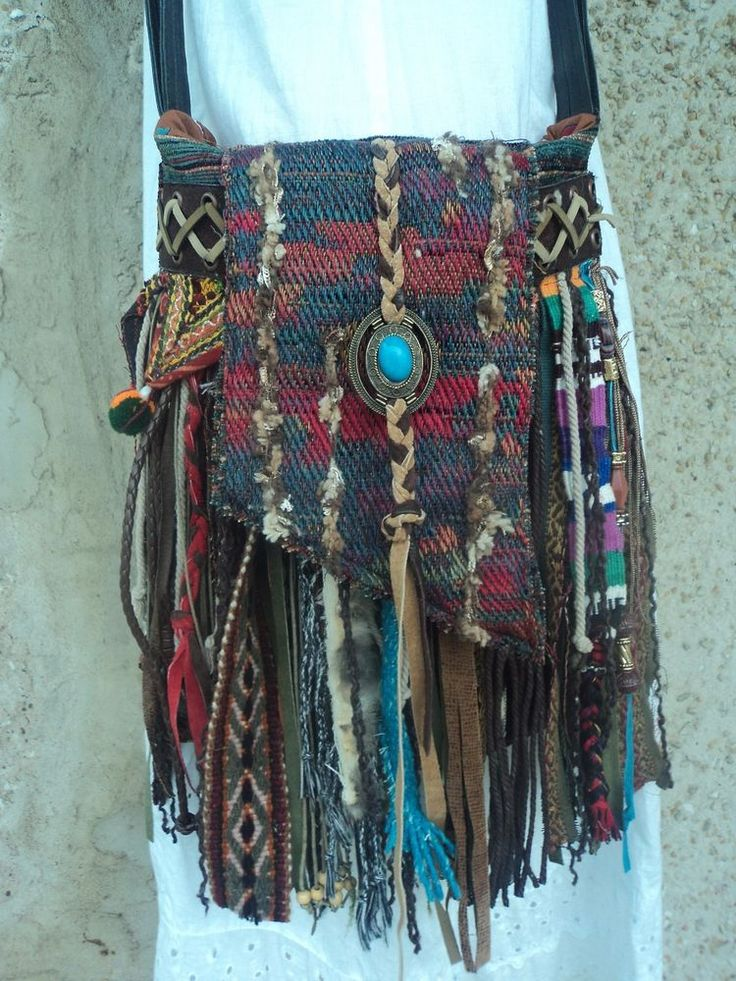 Handmade Boho Fringe Bag Hippie Gypsy Tribal Western Cross Body Purse tmyers #Handmade #MessengerCrossBody