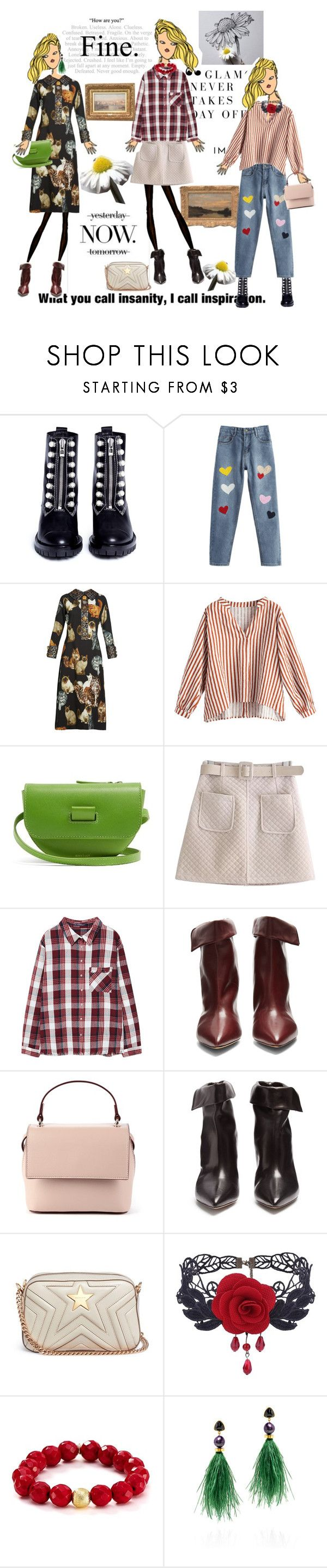 """January 25,2018"" by anny951 ❤ liked on Polyvore featuring 3.1 Phillip Lim, MELIN, Dolce&Gabbana, Wandler, WithChic, MANGO, Isabel Marant, Sole Society, STELLA McCARTNEY and Bourbon and Boweties"