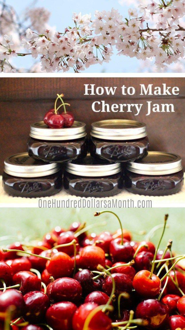 Cherry Jam Recipe, Cherry recipes, Canning Recipes, Jam Recipes