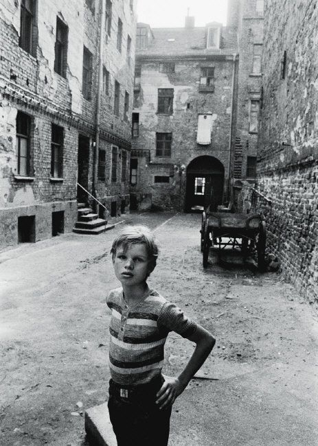 Magnum Photos — Thomas Hoepker —East Berlin. 1975. Boy in a Backyard Sophienstraße Berlin-Mitte.