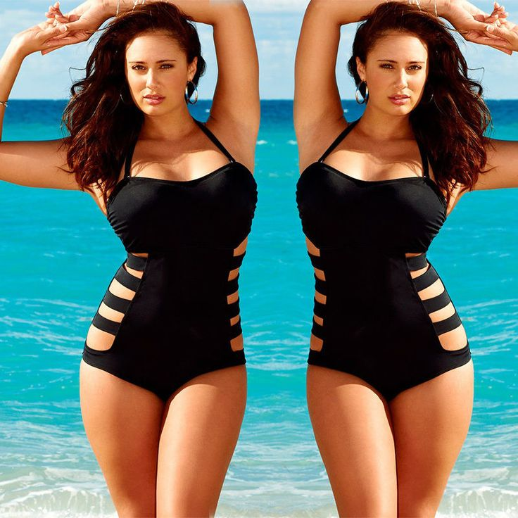 Sexy Women One Piece Monokini Strappy Padded Bikini Swimsuit ...