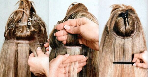how to do the tape in hair extensions