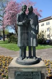 The Grimm Brothers statue, Kassel, Germany