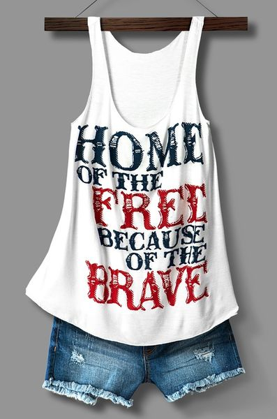 What better way to show your support! This is our favorite forth of July top!