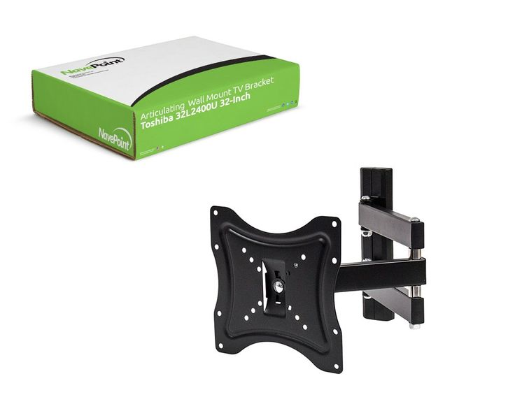 "NavePoint Articulating Wall Mount TV Bracket for Toshiba 32L2400U 32-Inch Flat Screen TV. Perfect for mounting your Toshiba 32L2400U 32-Inch TV. Fits 22-40"" TVs with VESA 50 to 200mm patterns and up to 30 pounds. Extends between 2.5 and 20 Inches from the wall. 4 Degree Rotation, +/-15 Degree Tilt. Single Stud Installation. All Hardware Included. Constructed of 100% high grade steel."