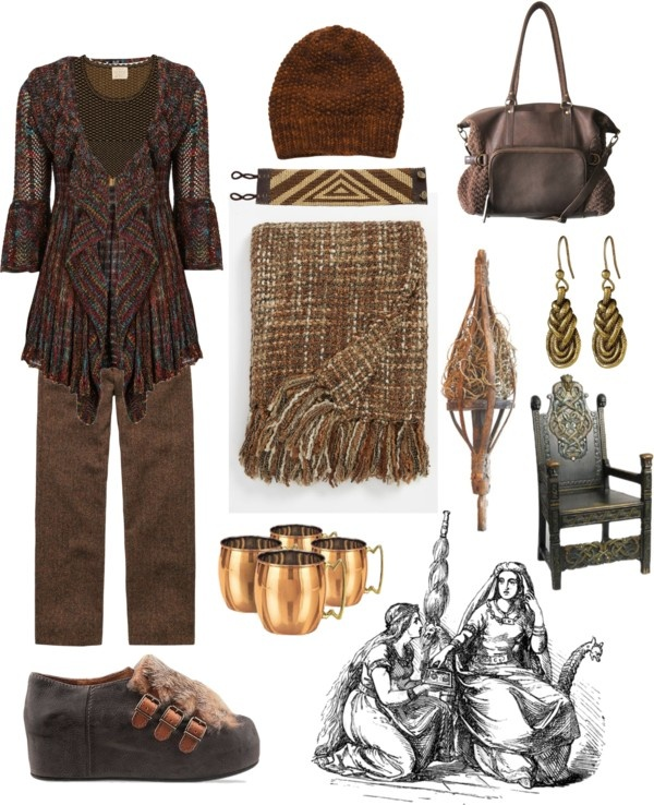 """brown distaff day"" by rewolf71 ❤ liked on Polyvore"