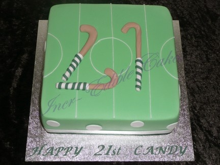8 Best Images About Field Hockey Cakes On Pinterest