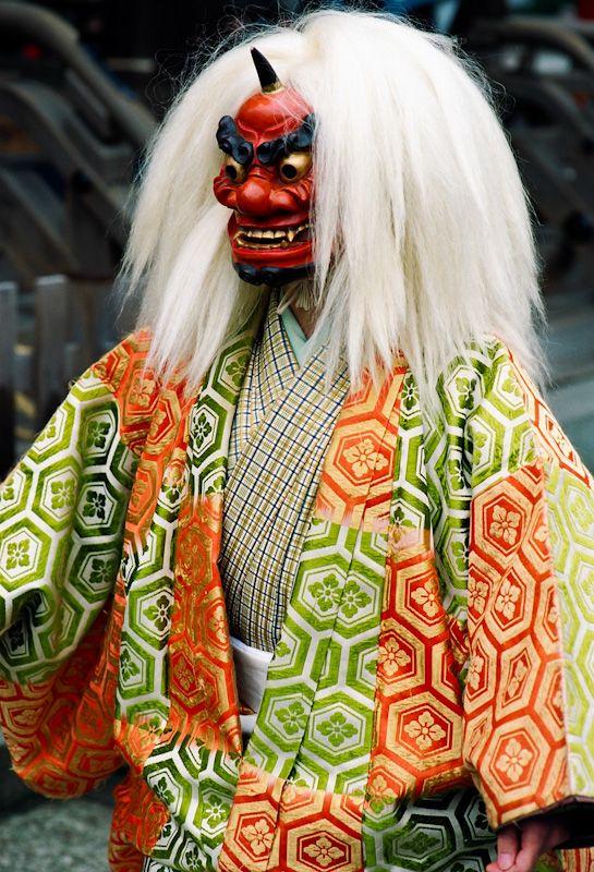 Setsubun Demon - celebrating the end of winter in Kyoto, Japan. Photographer John Paul Foster