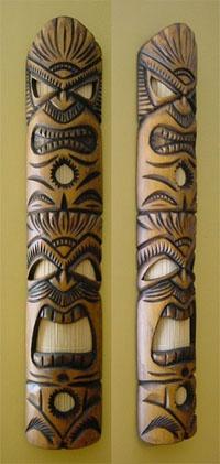 Bamboo Tiki wall art.