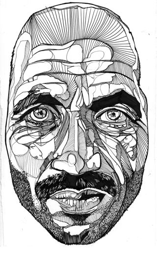 20 best ink images on pinterest art lessons creative and draw ink drawings of luke dixon various shapes in face movement ccuart Image collections