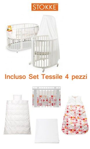 UN'OFFERTA COSI', NON LA TROVI PIU': Culla e Lettino Stokke Sleepi + Set Tessile 4 Pezzi a soli € 699  http://www.lachiocciolababy.it/culle-per-neonati/7654-culla-e-lettino-stokke-sleepi-set-tessile-4-pezzi.html