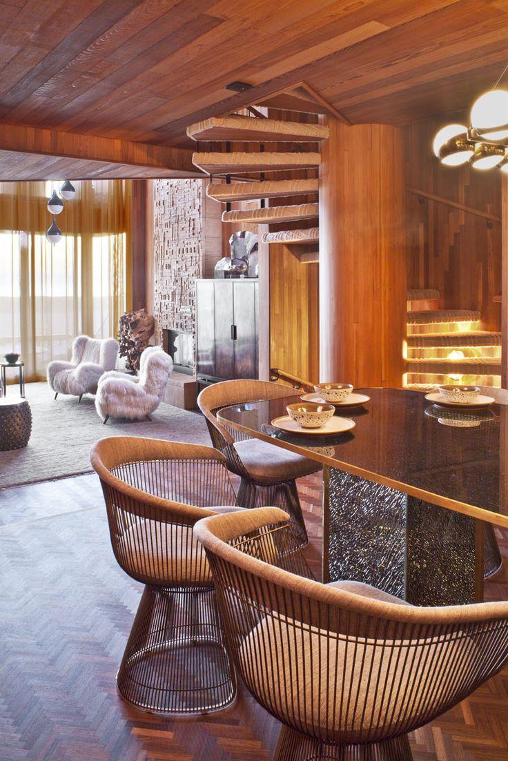 KELLY WEARSTLER | INTERIORS. Seal Beach Residence, Dining to Living Room