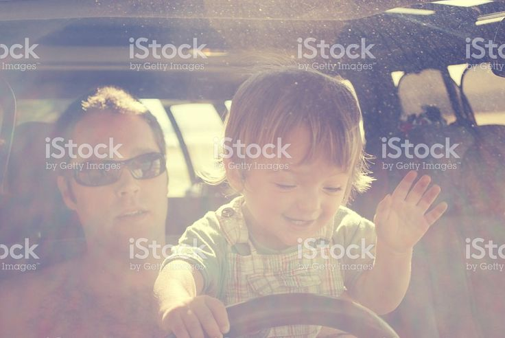 Child Pretending to Drive Car royalty-free stock photo