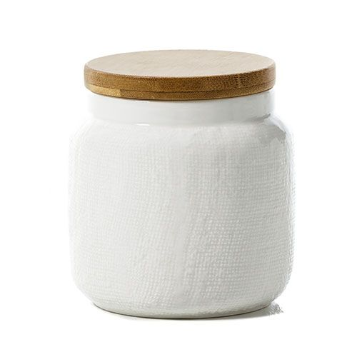 Paper Mesh Canister White