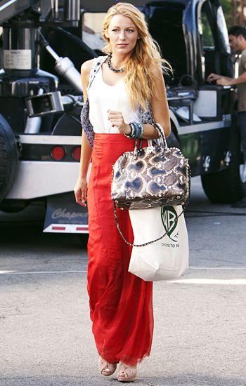 Serena Van Der Woodsen: Top: Rag & Bone ]+ Vest: Theysken's Theory + Skirt: Rag & Bone]+ Necklace: Daniel Espinosa + Bracelets: MCL + Bag: Valentino]+ Shoes: Alaia