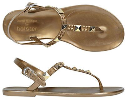 Holster Shoes - Rockstar Stud Jelly - Bronze - Size 5 - Studded & Jewelled £39.99 #ebaycollections